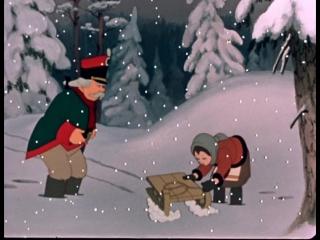Двенадцать месяцев (1956)  новогодний мультфильм для детей.