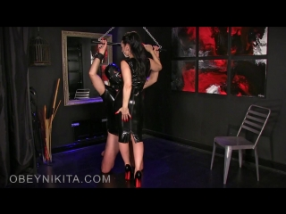 Mistress Nikita - Lick My Rubber Dress