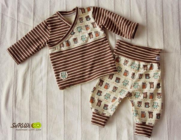 Комплект на малышей с запахом 50-110 размер
