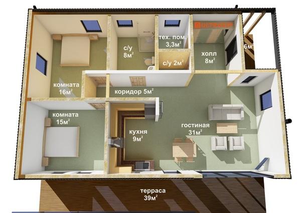 Строим дом #ультрасип_крутой_ручей , выкладываем планировку и фасады 👌🏻 Кстати, это 4й дом в России с панелями 324мм. в перекрытии гостиной! Видео тоже приложим, вы его уже видели👇🏻👇🏻👇🏻