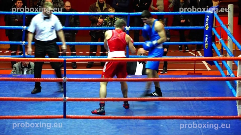 Riga Open 2014 Final 60 kg Artjom RAMALAVS Latvia VS Dzhamal BADRUTDINOV Russia proboxing.eu