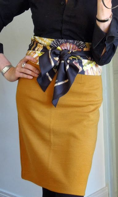 Пояса и платки как стильные аксессуары