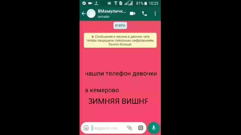 Зимняя вишня переписка мамы с дочкой КЕМЕРОВО 😭❤ mp4