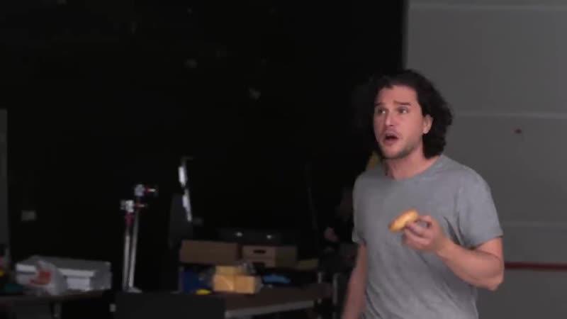 Кит Харрингтон и Беззубик на кастинге сериала Игра Престолов 2019 YouTube