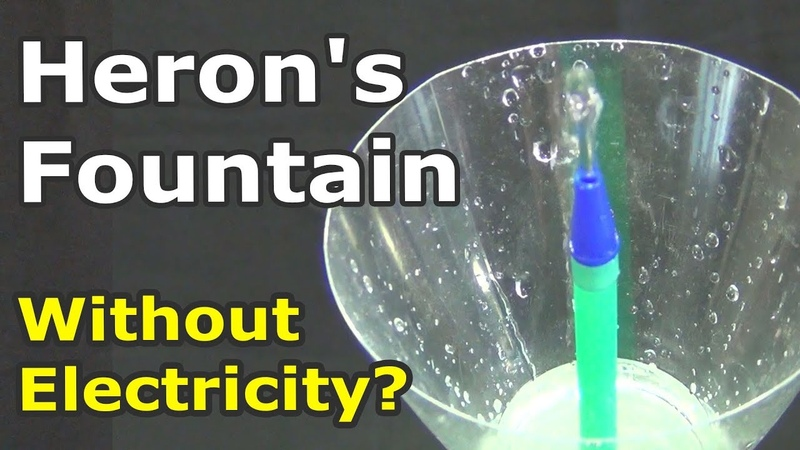 Heron's Fountain - the Eternal Fountain? How to make a Heron's fountain from three bottles