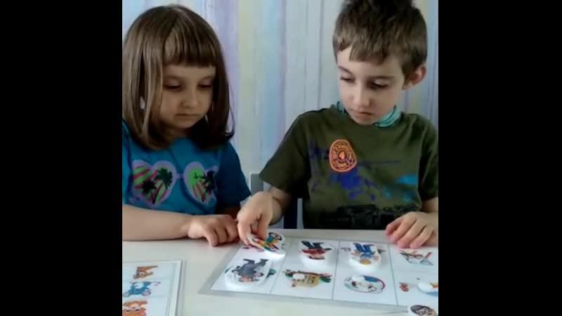 Надя и Саша играют в профессии