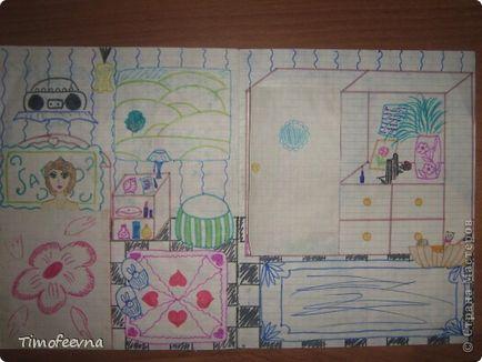 Картинки бумажных домиков в тетрадке