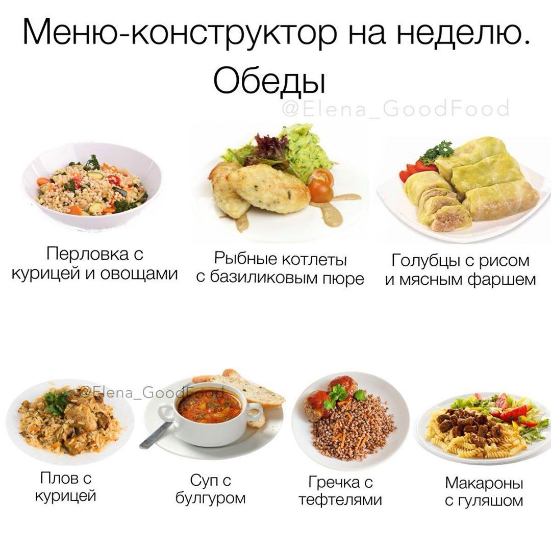 Пп меню для похудения с рецептами