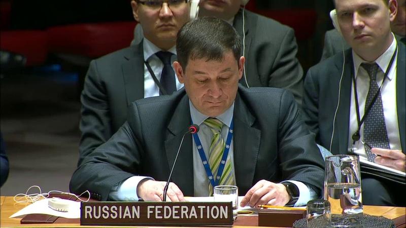 Выступление Первого заместителя Постоянного представителя Д.А.Полянского на брифинге СБ ООН по Сирии
