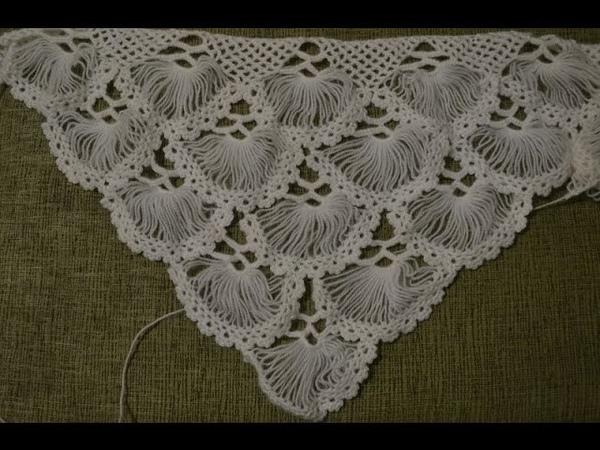 Турецкая шаль, связанная на карточке. Часть 1/5 (Turkish shawl, tied on the card. Part 1)