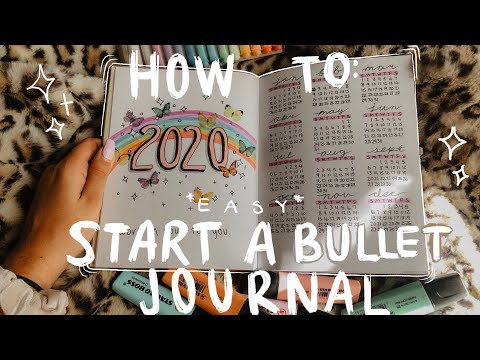 *EASY* HOW TO START A BULLET JOURNAL FOR BEGINNERS! MY SET UP FOR 2020 TIPS SUPPLIES I USE!