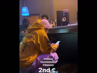 Travis Scott, Justin Bieber, Big Sean и Hit-Boy работают в студии