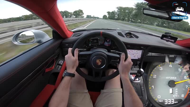 PORSCHE 911 GT2 RS | 342km/h | AUTOBAHN POV TOP SPEED