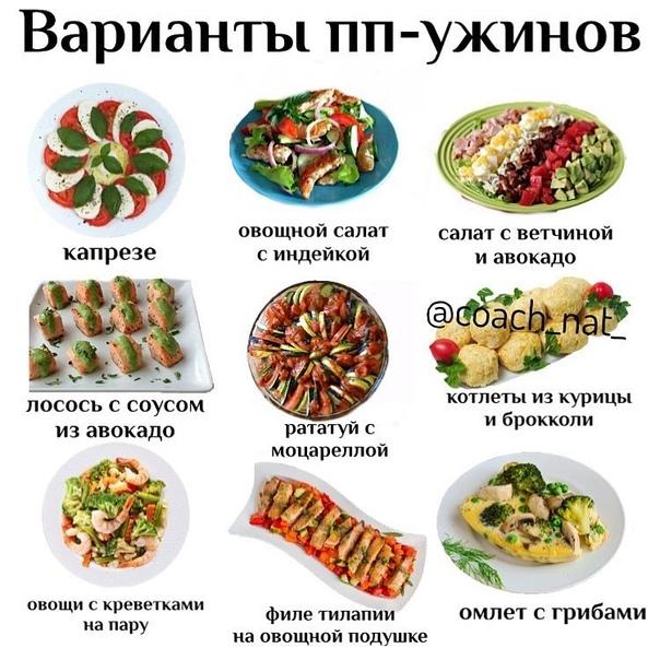 Варианты пп ужинов для похудения