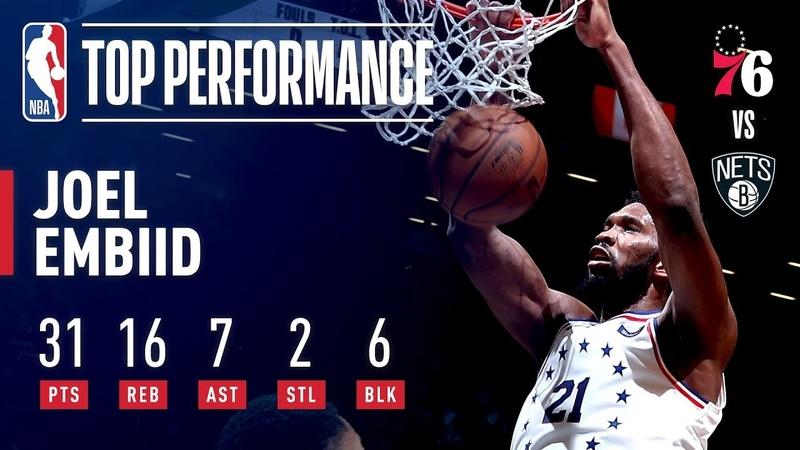 Joel Embiid STUFFS The Stat Sheet in Game 4 | April 20, 2019 NBANews NBA 76ers NBAPlayoffs JoelEmbiid