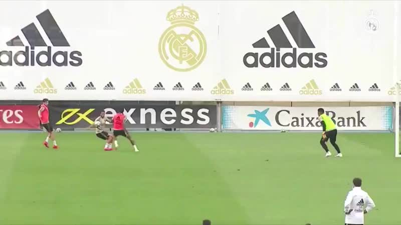 Eden Hazard scoring a Hat Trick in Real Madrid's practise match in training earlier today