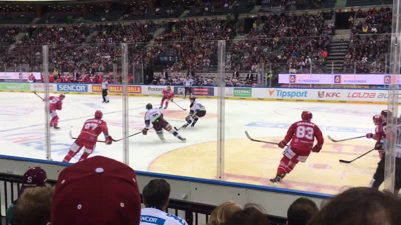Прага, хоккей. Sparta - Třinec