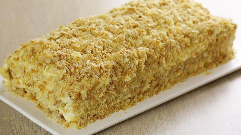 Ленивый «НАПОЛЕОН» Без раскатки коржей! Рецепт торта за 30 минут! Простой, быстрый и вкусный торт