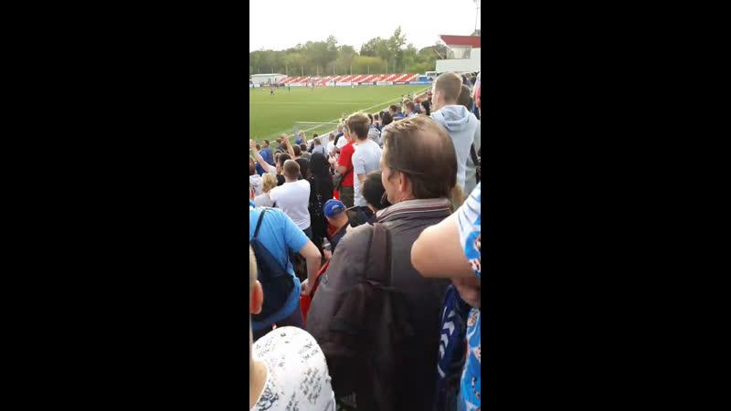 С трибуны на матче Ротора со Спартаком 2 на стадионе им Черенкова