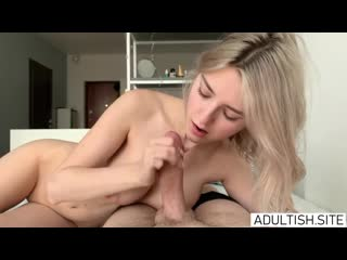 Eva Elfie - Young Busty Teen Tries a Big Cock Inside Her Tight Pussy [All Sex, Hardcore, Blowjob, Gonzo]