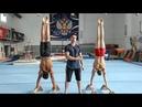 Как учат стойку на руках гимнасты