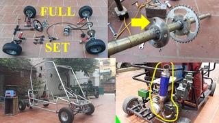 Homemade Go Kart at home / instructions for making the car Go kart
