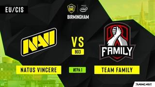 Natus Vincere vs Team Family - Game 1, Group A - ESL One Birmingham 2020 - Online Championship