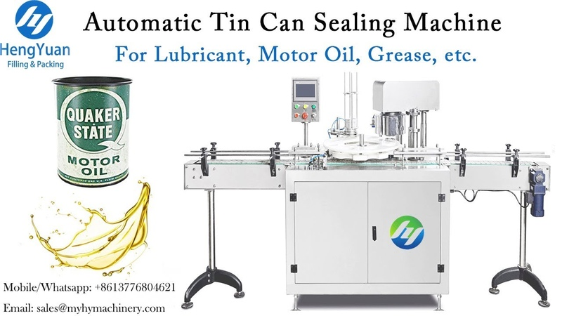 Automatic Tin Can Sealing Machine Lubricant Motor Oil Container Sealer