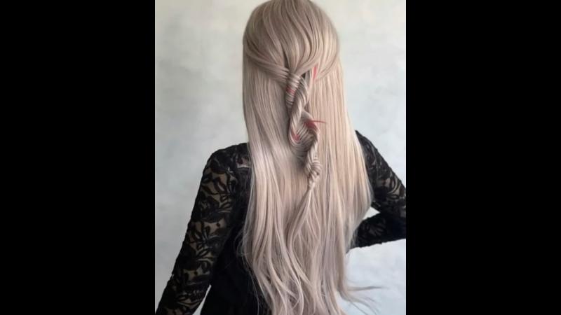 Оригинальное спиральное плетение