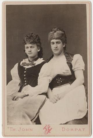 Перевоплощение эстонских студентов, конец XIX века.