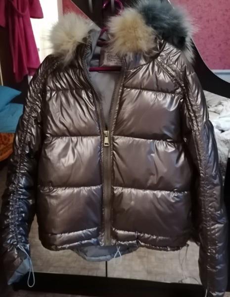 Отдам за маленький арбуз) новая куртка, в один рукав нужн...