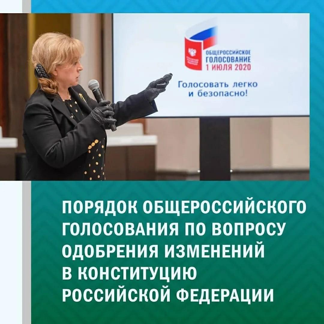 Порядок проведения голосования по поправкам в Конституцию РФ - в инфографике