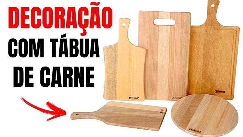 3 IDEIAS COM TABUA DE CARNE PARA DECORAR A COZINHA show de artesanato
