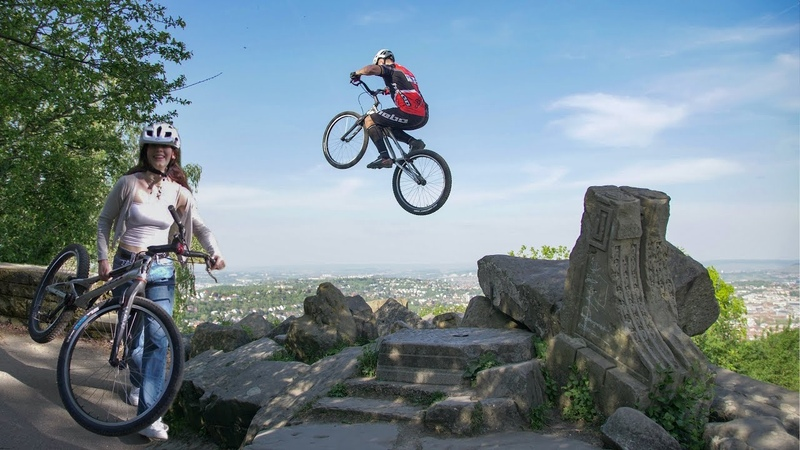 BIKE TRIAL TRAINING I Above The City I Oliver Widmann