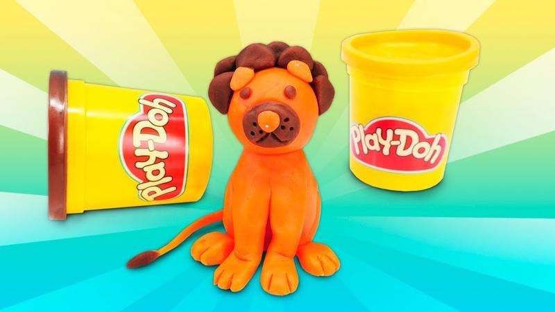 Okul öncesi çocuk oyunları Play Doh aslan yapalım Hamur oyunları
