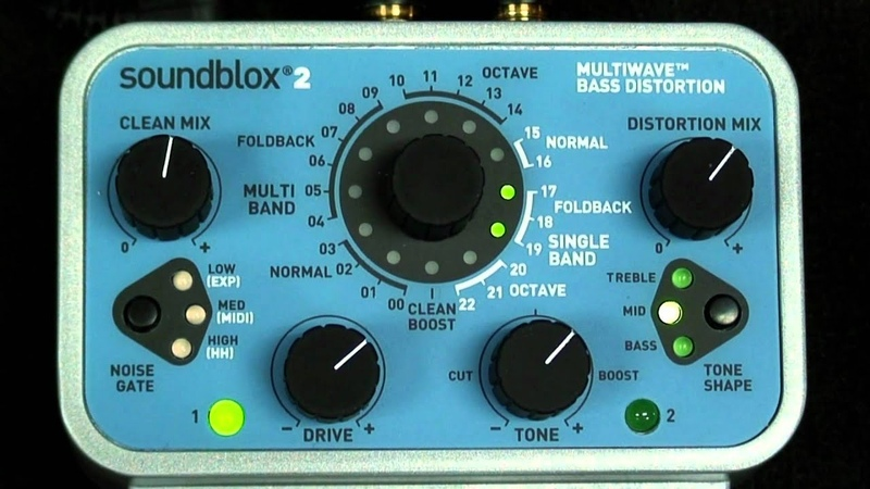Bass Distortion Pedal Demo: Soundblox 2 Multiwave Bass Distortion