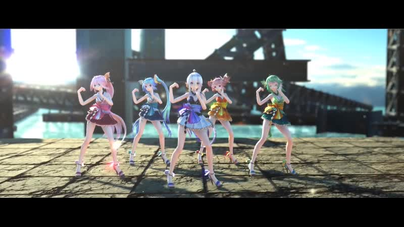 MMD 気まぐれメルシィ Kimagure Mercy TDA Miko Costume 5 Group