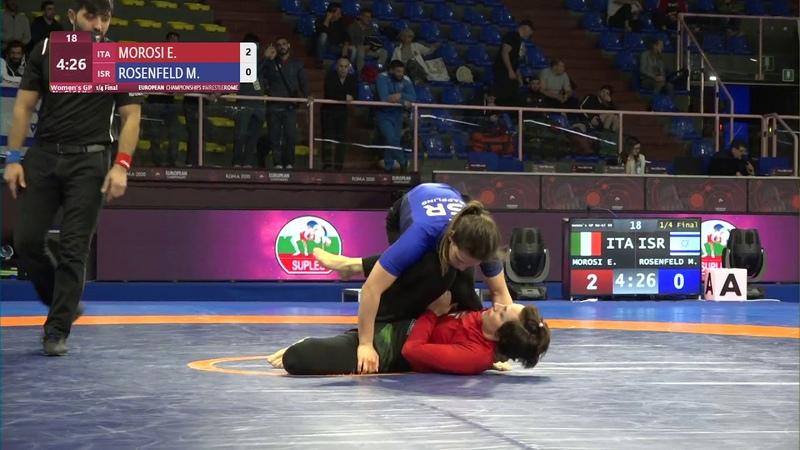 14 Womens GP No-Gi - 64 kg E. MOROSI (ITA) v. M. ROSENFELD (ISR)