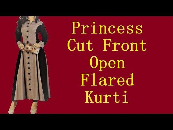 Princess Cut Front Open Flared Kurti I प्रिंसेस कट ओपन फ्लेयर्ड कुर्ती I