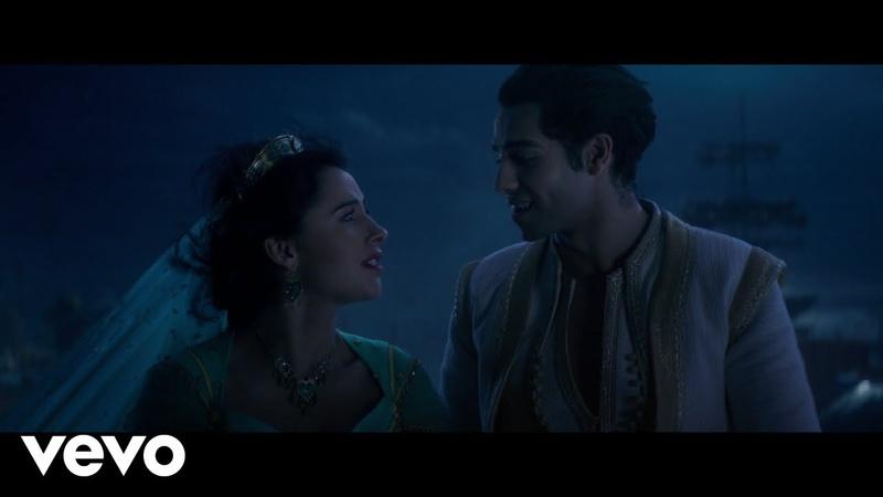 Mena Massoud Naomi Scott A Whole New World from Aladdin Official Video