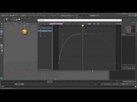 Maya How to Animate a Bouncing Ball in place in Maya