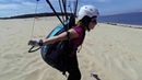 Dune du Pyla - Paragliding - a beginner girl plays with the wind. (Gleitschirm)