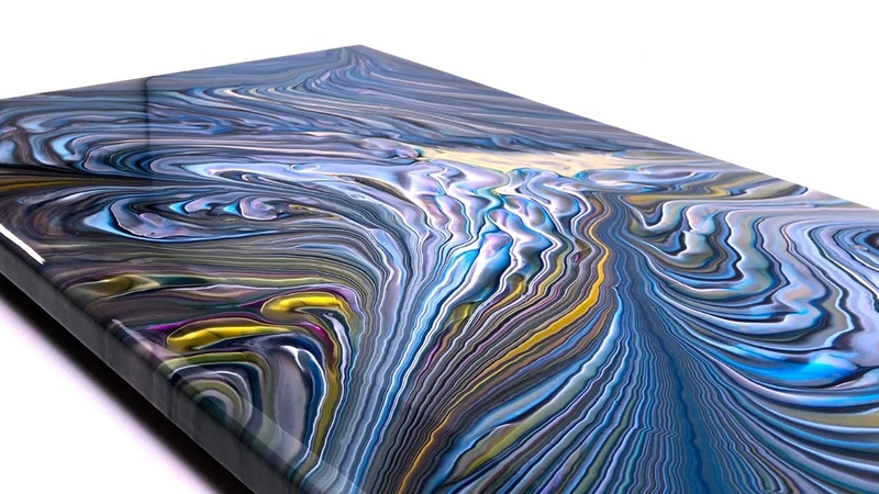 Break the Ring cast Acrylic pour Painting Satisfying Technique