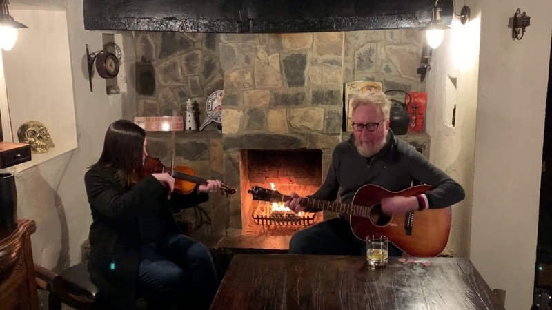 Flogging Molly Dave and Bridget Fireside Sessions 'Whistles The Wind' 'Salty Dog'