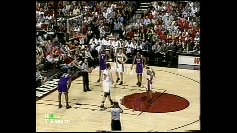 NBA WCF 2000 Lakers Trail Blazers G3 2nd quarter