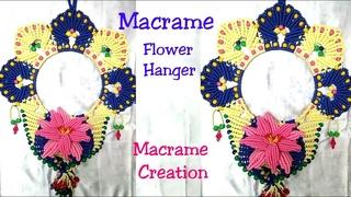 Diy MACRAME FLOWER HANGER Design Tutorial