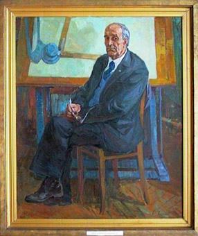 Чураков В.Д. Портрет архитектора В.Д. Шатилова. 1979 г. холст, масло. 120х100.