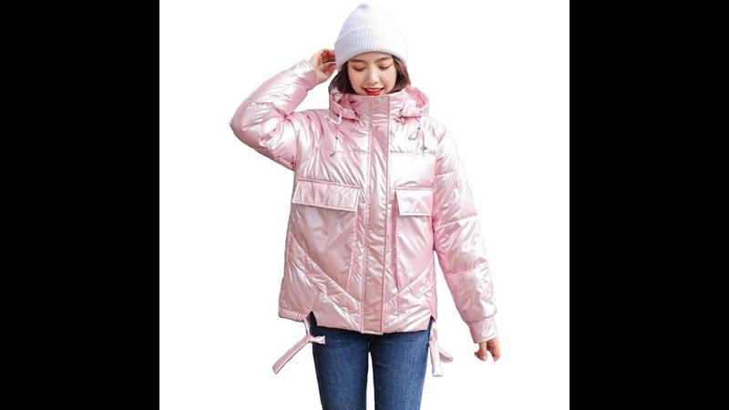 Зимние женские пальто pakras новинка 2020 с большим карманом зимние женские пальто короткие тонкие утепленные глянцевые
