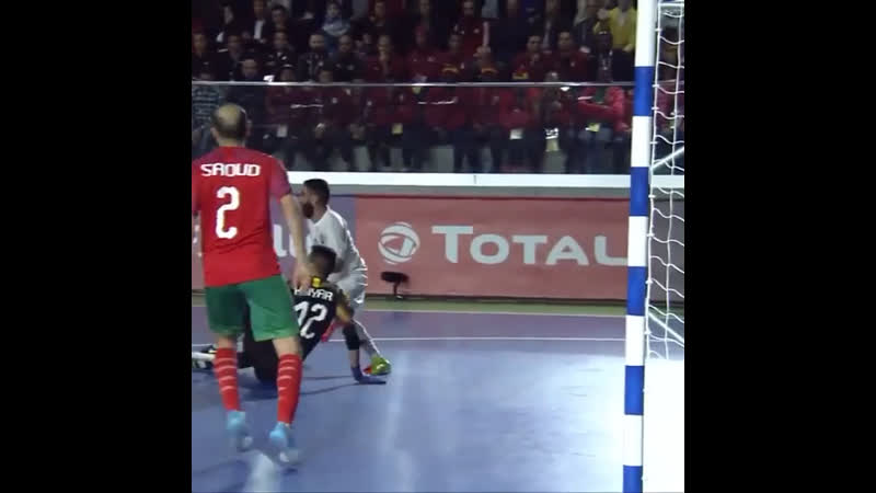 Just goal conceded thro ughout the entire tournament by Reda Khiyari TotalAFCONFutsal2020