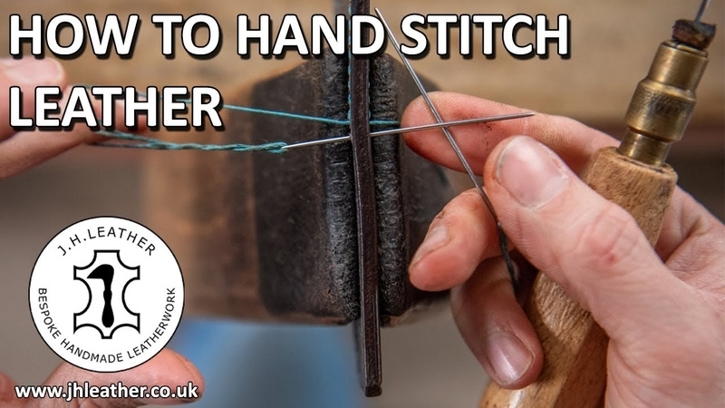 How to Hand Stitch Leather Saddle Stitch Tutorial Beginner Leatherwork